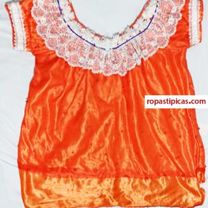 blusa típica color naranja